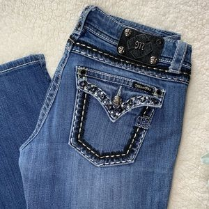 Miss Me Straight Jeans (28), Medium Wash Denim